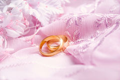 Wedding pink background Stock Images