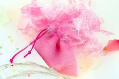 Wedding pink bonbonniere Royalty Free Stock Image