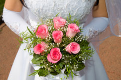 Wedding pink bouquet Royalty Free Stock Photos
