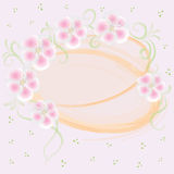 Wedding pink card with floral elements Royalty Free Stock Photo