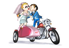 Wedding pink sidecar. 3d illustration, wedding pink sidecar Royalty Free Stock Photography