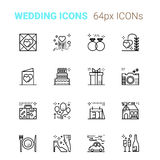 Wedding pixel perfect icons Stock Image