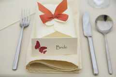 Wedding place card Royalty Free Stock Images