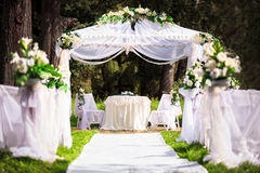 Wedding place. Wedding in the old park Royalty Free Stock Image