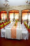 Wedding. Place on the restaurant Stock Image