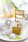 Wedding place setting Stock Photography