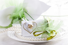 Wedding place setting Royalty Free Stock Photos
