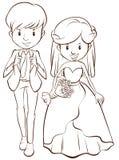 A wedding royalty free illustration