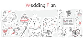 Wedding plan Stock Photo