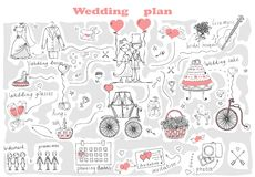 Wedding plan Stock Photography
