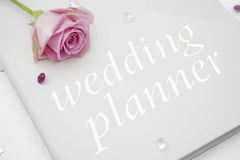 Wedding planner book Stock Image