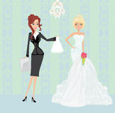 Wedding planner and bride Royalty Free Stock Photos