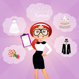 Wedding planner Royalty Free Stock Photography