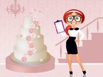 Wedding planner. Funny illustration of Wedding planner stock illustration