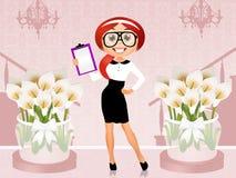 Wedding planner. Illustration of Wedding planner girl vector illustration