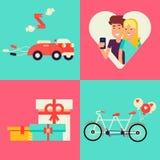 Wedding planner vector flat kit. Stock Image