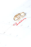 Wedding planning Royalty Free Stock Photography