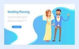 Wedding Planning Arrangement of Event on Each Step stock illustration