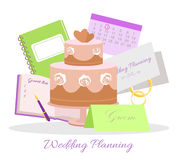 Wedding Planning Vector Concept in Flat Design Stock Images