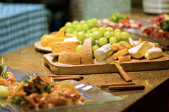 Wedding Platter of Food Stock Photos