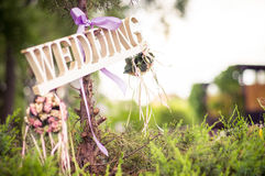 Wedding decoration sign or pointer Stock Photography