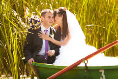 Wedding on pond Royalty Free Stock Image