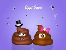 Wedding of poop Royalty Free Stock Image