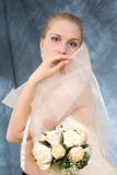 Wedding portrait. Of the bride, close up Stock Photography