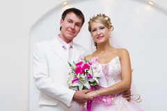 Wedding. Portrait of beautiful bride and groom Royalty Free Stock Images