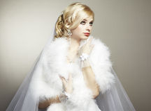 Wedding portrait of beautiful young bride Stock Photography