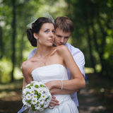 Wedding portrait of couple Royalty Free Stock Photo