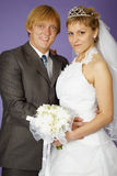 Wedding portrait of newlyweds Royalty Free Stock Photos