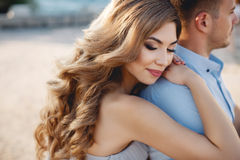 Free Wedding Portrait Of Bride And Groom Outdoors In Summer Stock Photo - 77443910