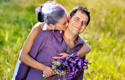 Wedding portraits. Husband and bride, just married royalty free stock photo