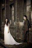 Wedding posing stock image