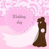 Wedding postcard Royalty Free Stock Photo