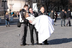 Wedding in Prag Lizenzfreie Stockfotografie