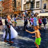 Wedding in Prague. Czech republic stock photo
