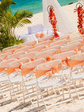 Wedding preparation on Mexican beach Royalty Free Stock Image