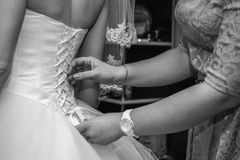 Wedding preparations. Final touches. royalty free stock image