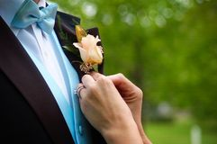 Wedding preperations Royalty Free Stock Photo