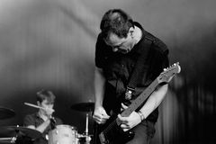 The Wedding Present (band) in concert at Arc de Triomf for free Stock Photos