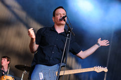 The Wedding Present band performs at Arc de Triomf for free Royalty Free Stock Images