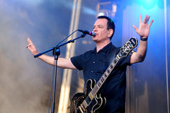 The Wedding Present band performs at Arc de Triomf for free royalty free stock photos