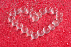 Wedding present. Heart shape from glass bubbles Royalty Free Stock Image