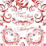 Wedding press wall. Royalty Free Stock Photo