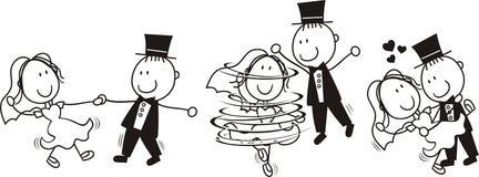 Wedding primeiramente a dança ilustração stock