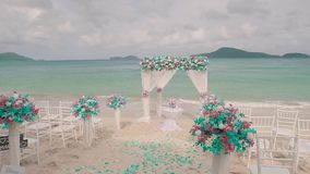 Wedding on the private beach stock video