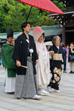 Wedding Procession in Meiji Shrine in Tokyo Stock Images