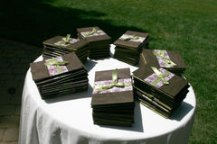 Wedding Programs Royalty Free Stock Photos
